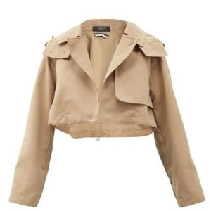 Max Mara Weekend Cropped Camel Orago Jacket Sz8